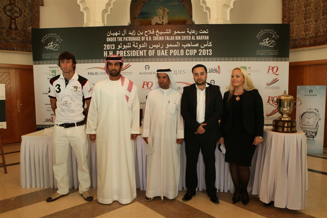 HH President of UAE Polo Cup 2013 - Press Conference - Participating teams and fixtures
